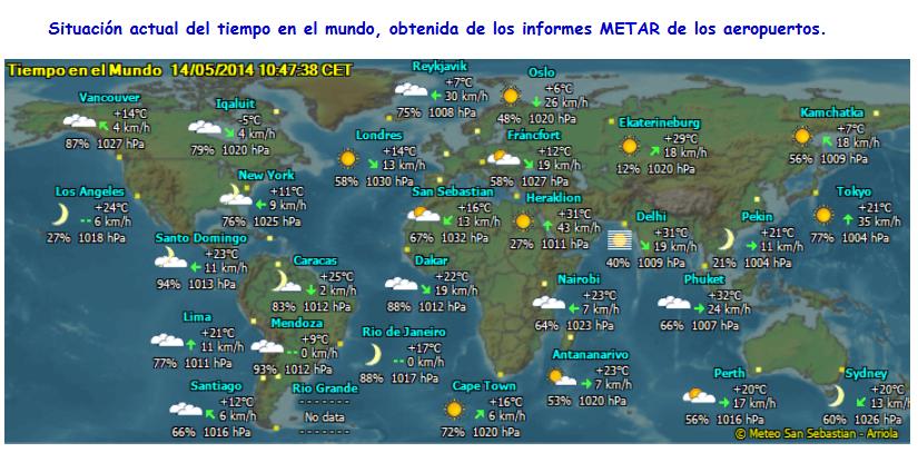 Mapa Del Tiempo En El Mundo.San Sebastian Novedades Meteo
